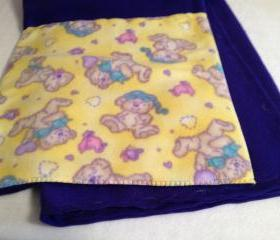 Purple & Yellow Teddy Flillow