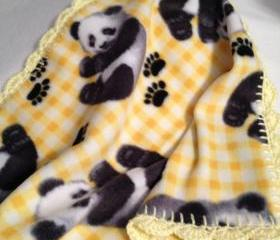 Yellow Panda Blanket