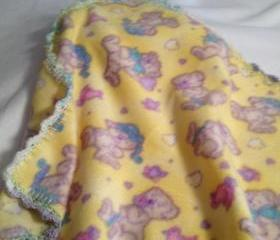 Yellow Teddies Blanket