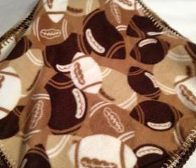 Brown Football Blanket